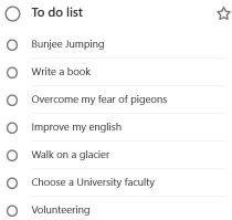Lista delle cose fare in viaggio