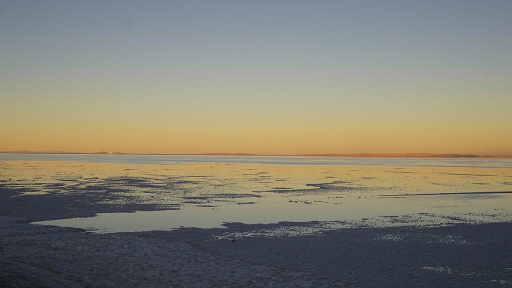 Salar de Uyuni, tramonto