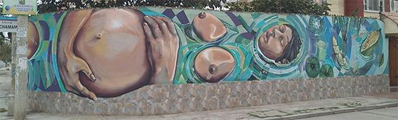 Calle Pachamama murales Cochabamba Proyecto mARTadero