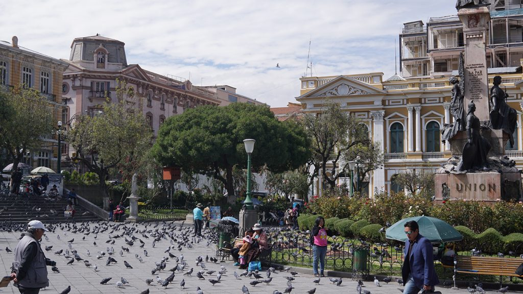Plaza Murillo nella città di La Paz