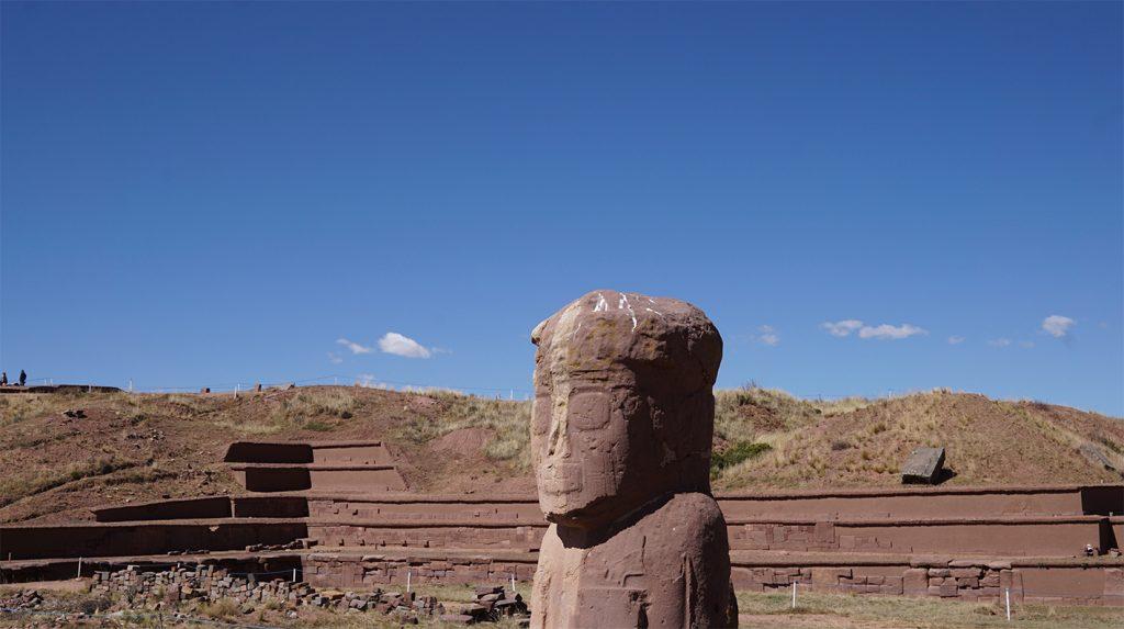 Sito archeologico di Tiahuanaco, profilo di un Yatiri