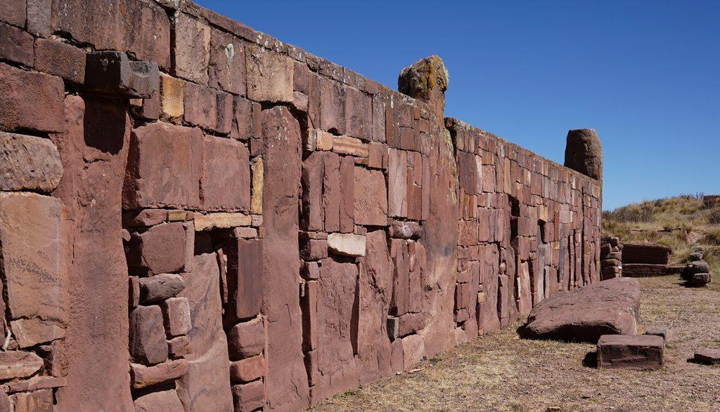 Sito archeologico di Tiahuanaco, rocce vulcaniche magnetiche utilizzate per la meditazione