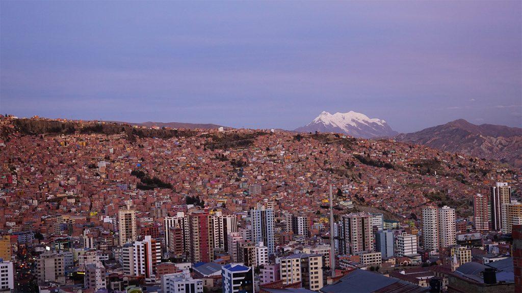 Vista panoramica di La Paz dal mirador Killi Killi