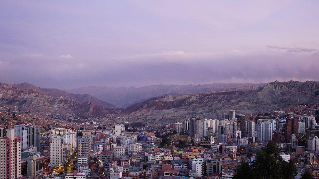 Vista panoramica di La Paz dal mirador Killi Killirador Killi Killi