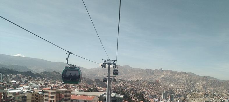 Vista panoramica di La Paz dal Teleferico
