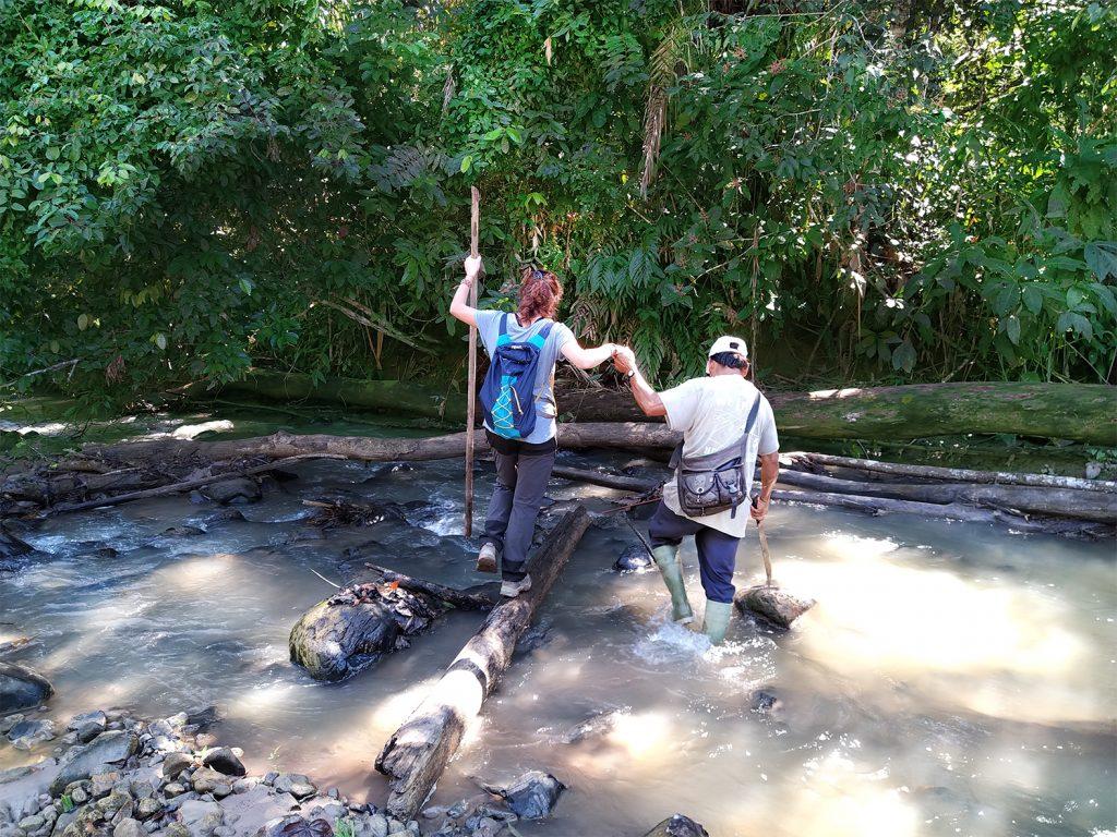 Selva Amazzonica attraversare il fiume