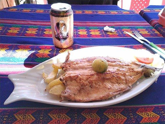 Trucha, piatto del lago Titicaca