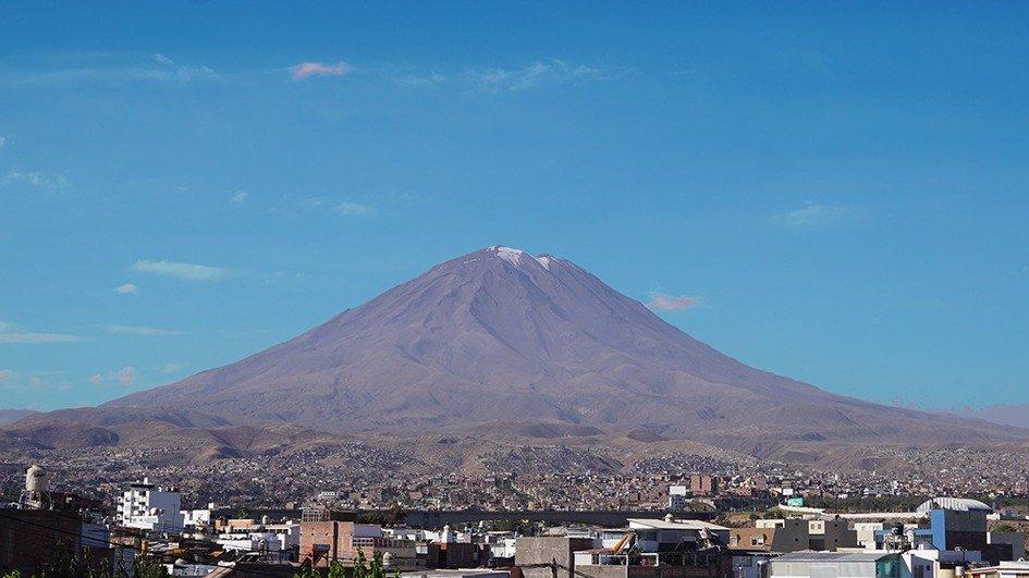 Vulcano Misti da Arequipa