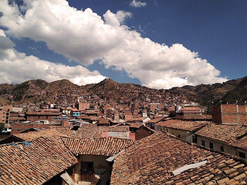 Vista aerea di Cusco