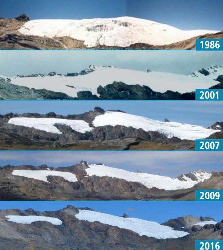 scioglimento ghiacciaio perù ANA